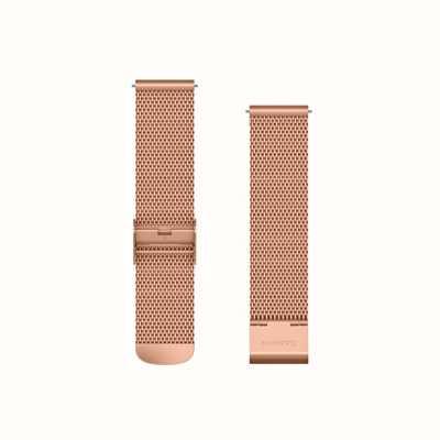 Garmin Banda de liberação rápida, banda milanese de ouro rosa com 18k rose go 010-12924-24