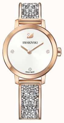 Swarovski | rocha cósmica | pulseira em ouro rosa | mostrador branco | 5376092