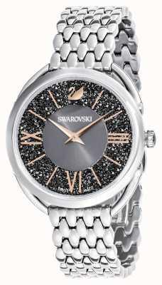 Swarovski | glam cristalino | pulseira de aço inoxidável | mostrador cinza 5452468