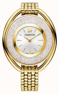 Swarovski Cristalino | oval | pulseira de pvd em ouro | mostrador prateado 5200339