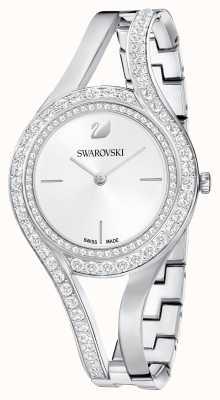 Swarovski | eterno | pulseira de aço inoxidável | conjunto de cristal | branco 5377545