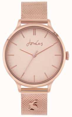 Joules Ryton pulseira de malha de ouro rosa | mostrador em ouro rosa | JSL026RGM