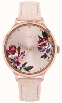 Joules   lavoura de mulheres   pulseira de couro nu   mostrador floral   JSL021PRG