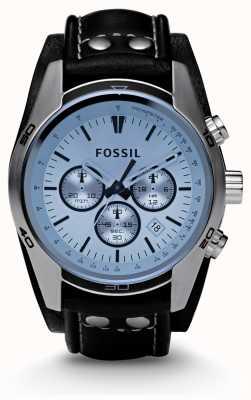 Fossil Mens relógio azul cronógrafo CH2564