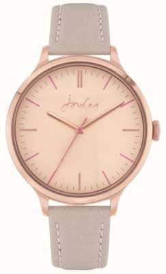 Joules | harthorpe para mulher | pulseira de couro nu | mostrador rosa | JSL022ERG