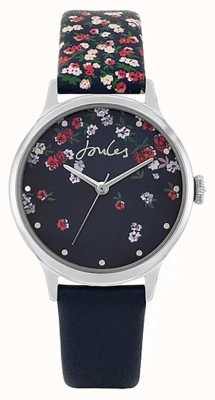 Joules | campo feminino | pulseira de silicone azul | mostrador floral azul JSL023US