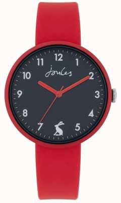 Joules Costa pulseira de silicone vermelho | mostrador da marinha | JSL020R