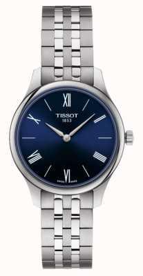 Tissot | tradição pulseira de aço inoxidável para mulher | mostrador azul | T0632091104800