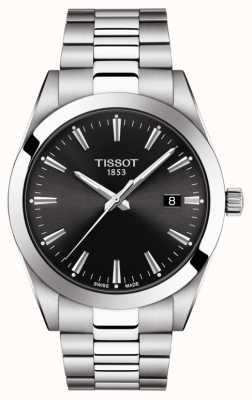Tissot | cavalheiro | pulseira de aço inoxidável | mostrador preto | T1274101105100