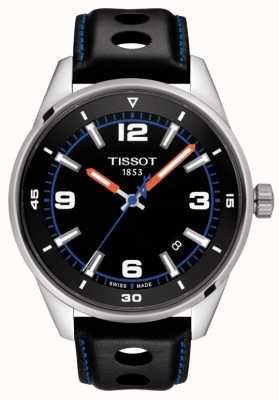Tissot | alpino | pulseira de couro preto | mostrador preto | T1236101605700