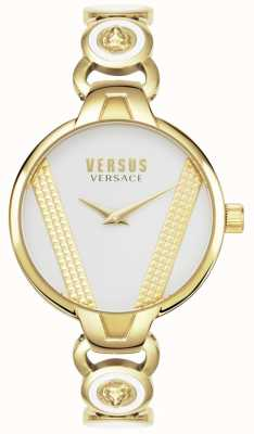 Versus Versace   Saint Germain   aço inoxidável tom dourado   mostrador preto   VSPER0319