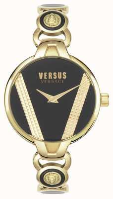 Versus Versace | Saint Germain | aço inoxidável tom de ouro | mostrador preto | VSPER0319