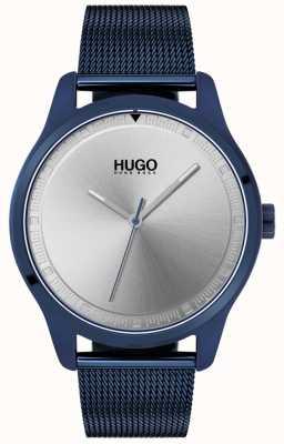 HUGO #move | pulseira de malha ip azul | mostrador azul | 1530045