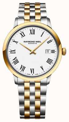 Raymond Weil | toccata para homem | aço inoxidável bicolor | mostrador prateado | 5485-STP-65001