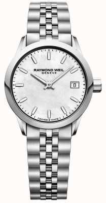 Raymond Weil Mulheres | freelancer | madrepérola dial | aço inoxidável 5626-ST-97021