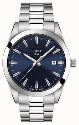 Tissot | cavalheiro | pulseira de aço inoxidável | mostrador azul | T1274101104100