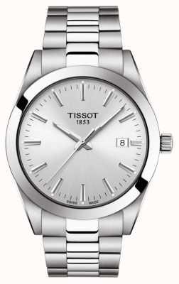 Tissot | cavalheiro | pulseira de aço inoxidável | mostrador prateado | T1274101103100