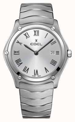 EBEL esporte clássico masculino | pulseira de aço inoxidável | mostrador prateado 1216455A