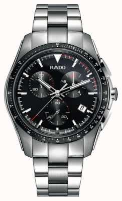 Rado Xxl hyperchrome cronógrafo em aço inoxidável relógio mostrador preto R32259153
