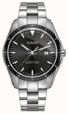 Rado Xxl hyperchrome aço inoxidável relógio mostrador preto R32502153
