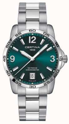 Certina Ds pódio 40mm | pulseira de aço inoxidável | mostrador verde | C0344511109700