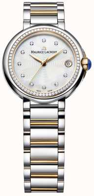 Maurice Lacroix Fiaba diamante feminino definir dois tons madrepérola FA1004-PVP23-170-1