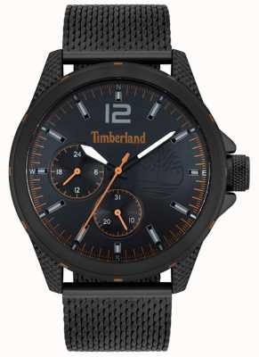 Timberland | taunton masculino | pulseira de malha preta | mostrador preto | 15944JYB/02MM