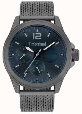 Timberland | taunton masculino | pulseira de malha cinza gunmetal | mostrador da marinha | 15944JYU/03MM