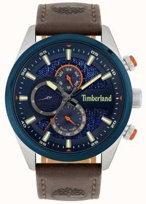 Timberland | ridgeview masculino | pulseira de couro marrom | mostrador da marinha | 15953JSTBL/03