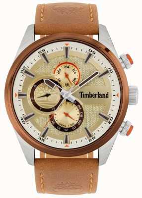 Timberland | ridgeview masculino | pulseira de couro marrom | mostrador mineral | 15953JSTBN/04