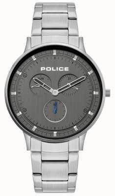 Police | berkeley para homem | pulseira de aço inoxidável | mostrador cinza | 15968JS/39M