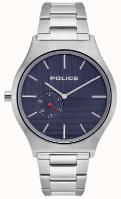 Police | orkneys para homem | pulseira de aço inoxidável | mostrador da marinha | 15965JS/03M