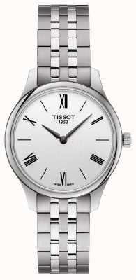 Tissot | tradição feminina | pulseira de aço inoxidável | mostrador prateado T0632091103800