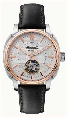 Ingersoll | o diretor automático | pulseira de couro preto | mostrador branco I08101