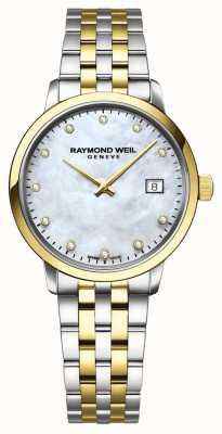 Raymond Weil Diamantes de prata mãe de discagem pérola 5985-STP-65081