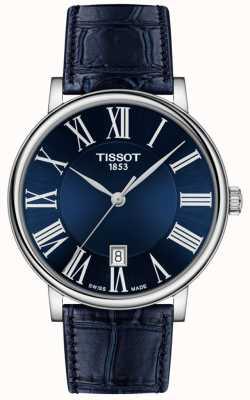 Tissot | homem | carson premium | pulseira de couro azul | mostrador azul | T1224101604300