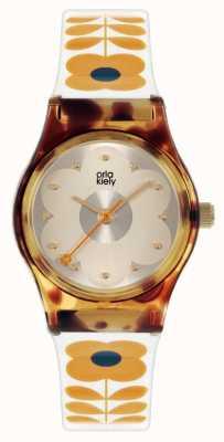 Orla Kiely Bobby bebê | estojo de tartaruga | pulseira de plástico creme OK2330