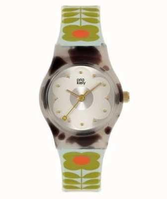 Orla Kiely Bobby bebê | concha de tartaruga de marta | pulseira de plástico pálido OK2328