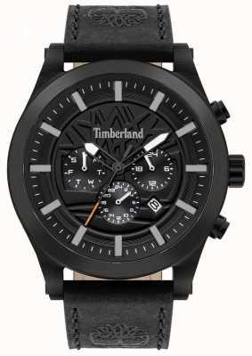 Timberland Rua esclarecido | pulseira de couro preto | mostrador preto | 15661JSB/02