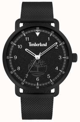 Timberland Lifestyler da cidade | pulseira de malha de aço preto | mostrador preto | 15939JSB/02MM