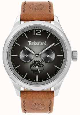 Timberland Lifestyler da cidade | pulseira de couro marrom | mostrador preto | 15940JS/13