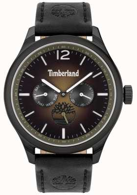Timberland Lifestyler da cidade | pulseira de couro preto | mostrador preto | 15940JSB/19