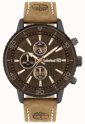 Timberland Buscador ao ar livre | pulseira de couro marrom | mostrador marrom | 15952JYU/02