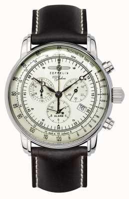 Zeppelin 100 anos | quartzo suíço | relógio cronógrafo 8680-3