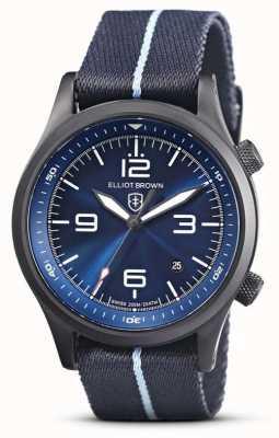 Elliot Brown Mens Canford | mostrador azul | fábrica azul 202-023-N12