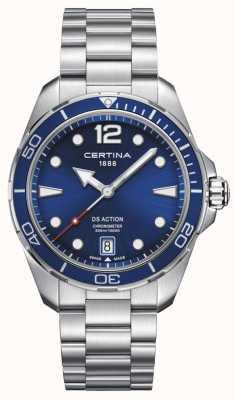 Certina | ação ds | cronômetro | mostrador azul C0324511104700