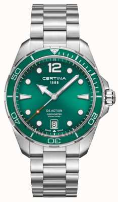 Certina Ds ação cronômetro mostrador verde C0324511109700