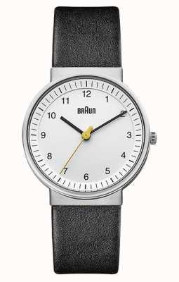 Braun | mulheres | quartzo simples | pulseira de couro preto | BN0031WHBKL