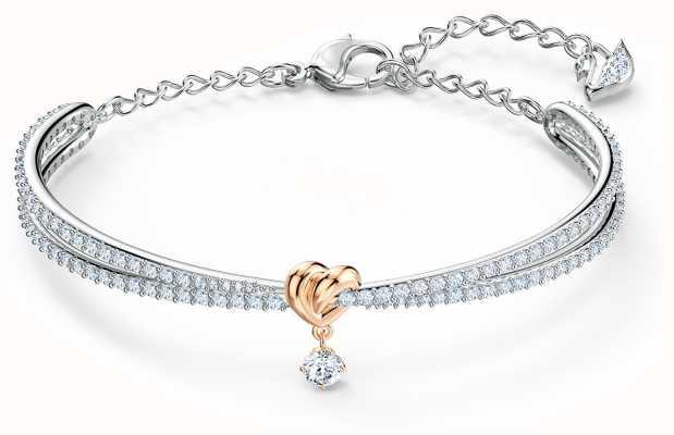 Swarovski   coração ao longo da vida   metal misto   pulseira   branco 5516544
