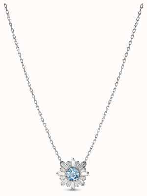 Swarovski | sol | banhado a ródio | cristal azul | pingente | 5536742
